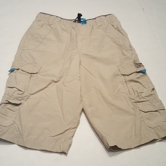 5817d8412f Unionbay khaki cargo shorts with teal accents